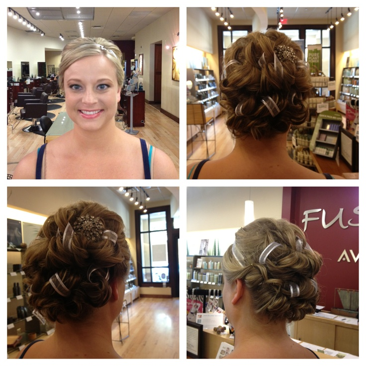 Check out this #bridal updo with an intricate ribbon detail from Tricia Hisky, Bridal Specialist & Senior Stylist in our Sandestin location. #fusionspasalonaveda