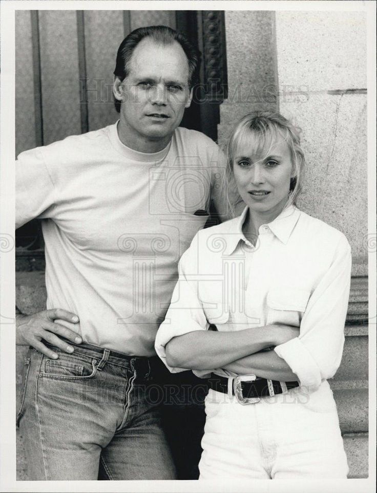 "1990 Press Photo Fred Dryer in ""Hunter"""