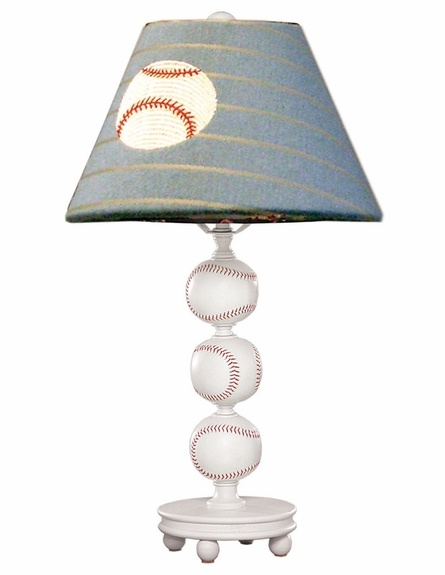 Baseball Lamp With Shade