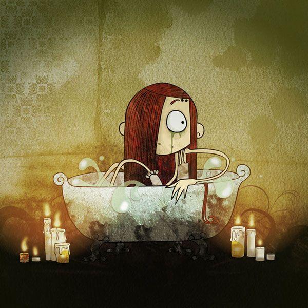 Sirena. Ilustración de La Pendeja.