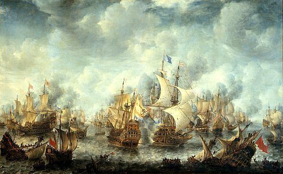 Nadat de eerste Engelse oorlog uitbrak van 1652 tot 1654, vroeg de Zeeuwse admiraliteit of Michiel De Ruyter als kapitein de oorlogsvloot te versterken. Met wat tegenzin ging hij toch, daarmee begon zijn tweede carrière en zijn internationale roem. Na 1652 kwamen nog veel zeeslagen waar De Ruyter een belangrijke rol had. Hij werd benoemd tot viceadmiraal van de Hollandse vloot. En in 1655 verhuisde hij met zijn familie naar Amsterdam.