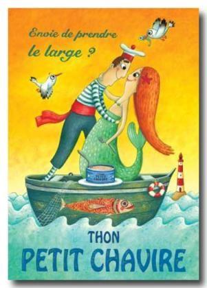 CARTES D'ART > PIU Amandine > PIU Thon Petit Chavire - e-mages - La carterie d art