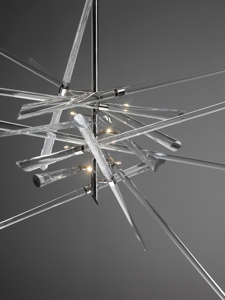 "Blown #glass Chandelier ""AND WHY NOT!"" by Lasvit   #design René Roubícek @Lasvit"