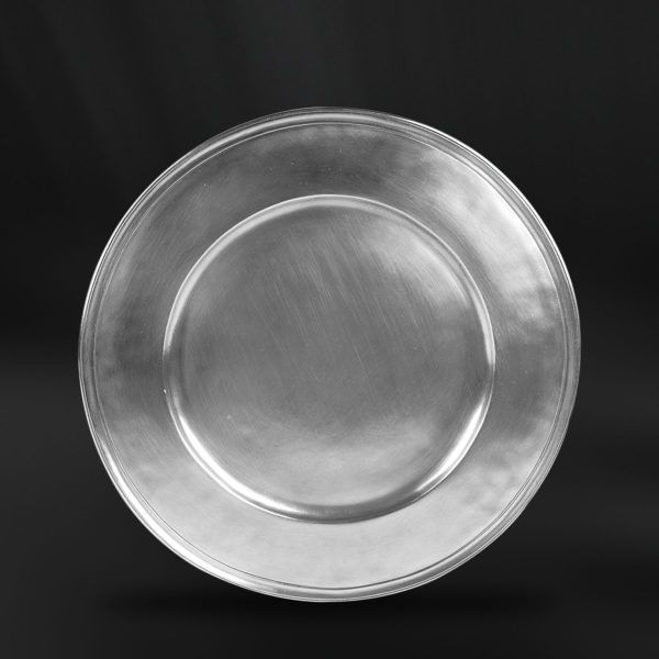 Pewter Charger Plate - Diameter: 32,5 cm (12,8″) - Food Safe Product - #pewter #charger #plate #peltro #sottopiatto #segnaposto #zinn #platzteller #peltre #tinn #олово #оловянный #tableware #dinnerware #table #accessories #decor #design #bottega #peltro #GT #italian #handmade #made #italy #artisans #craftsmanship #craftsman #primitive #vintage #antique