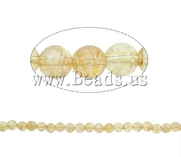 Crackle Quartz Beads, Citrine, Round, November Birthstone, Lime, 12mm