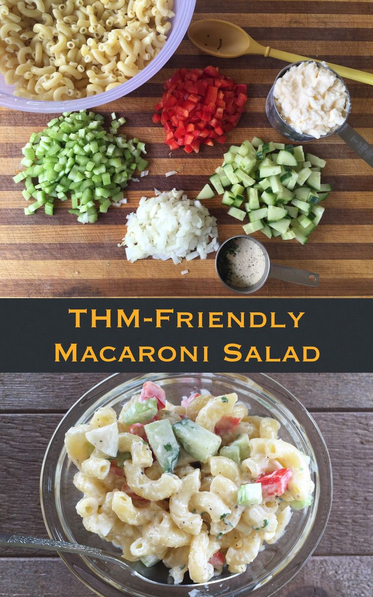 Macaroni salad speaks of summer to me. It's a staple at picnics, church potlucks, and family reunions. Now that you're a Trim Healthy Mama, you may have thought macaroni salad was only in your past, but (purists close your eyes and ears) I'm here to tell you it doesn't have to be – thanks to… Continue reading THM-Friendly Macaroni Salad {THM-S}