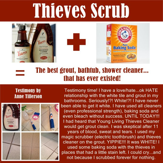 Thieves Scrub   Tile And Grout Testimony! | Cleaning/organizing | Pinterest  | Grout, Oil And Essentials
