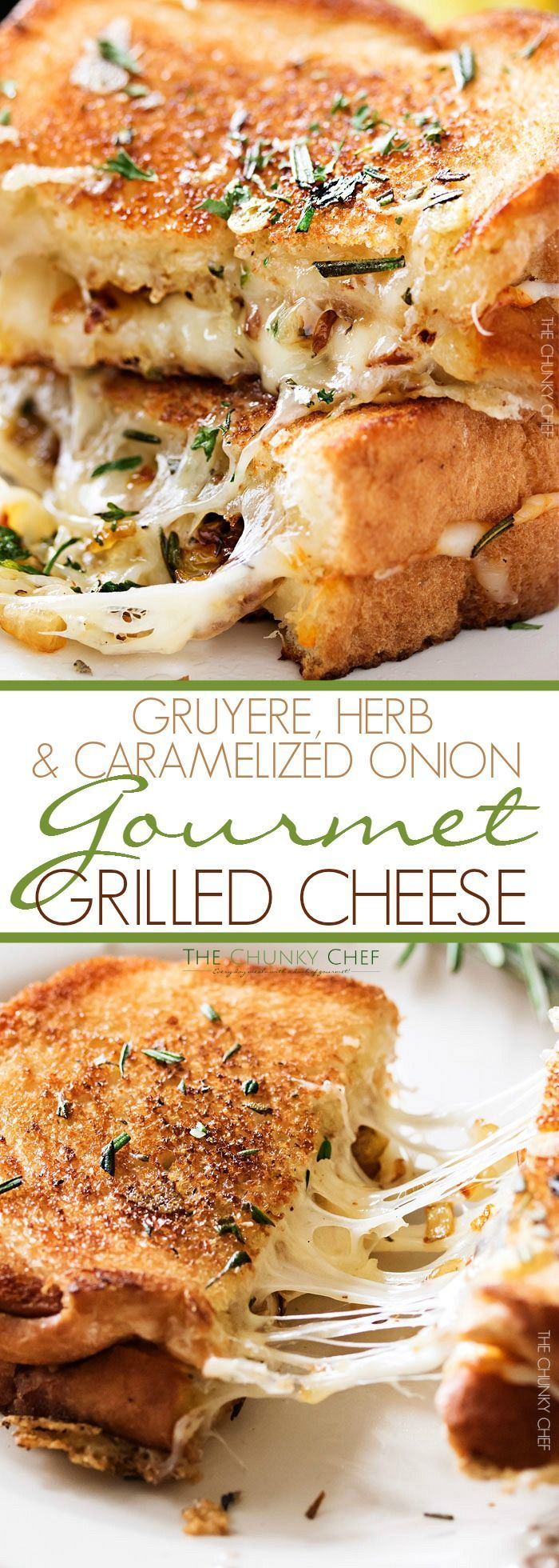 Ultimate Grilled Cheese | Gooey Gruyere and white cheddar cheese, savory…                                                                                                                                                     More