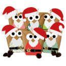 DIY Adventskalender Set zum Basteln - Weihnachtseulen Rot mit zusätzlicher Dekoration - Eulen Weihnachten - zum Befüllen - zum selber Füllen 24 naturbraune Papiertüten zum selber befüllen (Bodenbeutel, Größe 22x14x5 cm) 24 Holzklammern 45mm Länge (zum Verschließen und/oder Aufhängen) 4 DIN A4 Bögen (300g) mit insgesamt 24 Eulenbäuchen zum Selbstausschneiden und Aufkleben mit den Zahlen von 1 bis 24 (6 verschiedene Muster, je 4 mal) 2 DIN A4 Bögen mit Mützen, Handschuhen, Brillen, Krawatt...