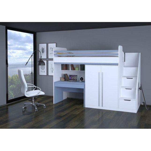 Hochbett Mit Schreibtisch Und Schrank Weiß