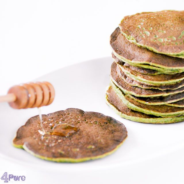 Spinach pancakes   - English recipe - Pancakes with vegetables, a great idea to eat some extra veggies. And the best: you can see it, but you won't taste it. Delicious (confirmed by the kids)