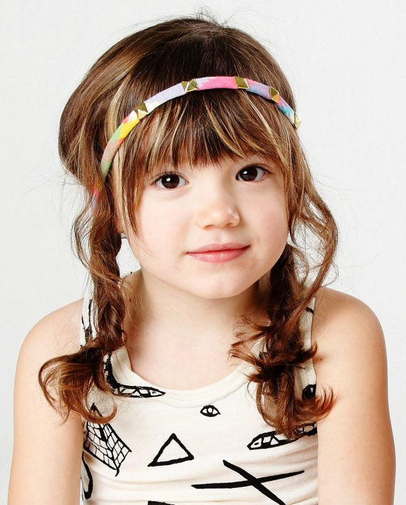 bob style haircuts studded headband in bright plaid with glow in the ink 9760