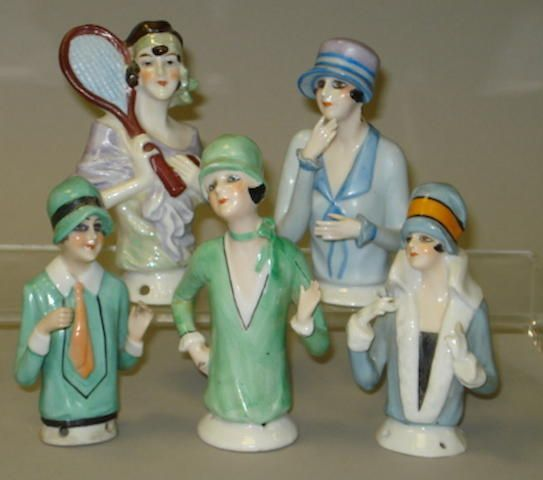 Five Flapper half-dolls 5