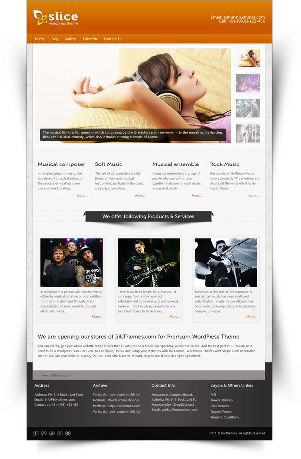 Slice  is a light, minimalistic, simple to use Premium WordPress theme. Quick to setup and easy to customize, Single click premium WordPress themes. Only $45