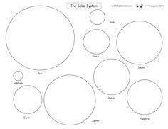 The Solar System FREE printables from waddleeahchaa.com