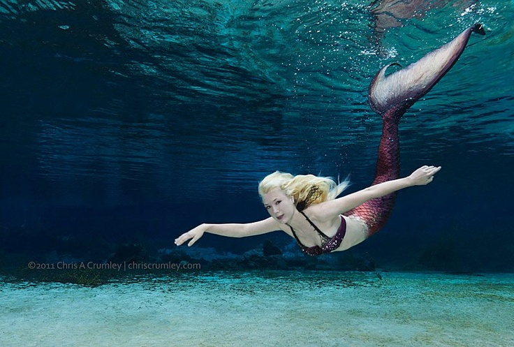 a handmade mermaid tail you can swim in?!?! so cool