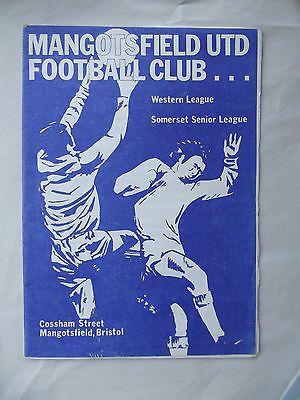 Old football programme Mangotsfield United v Keynsham Town Western League 1 1