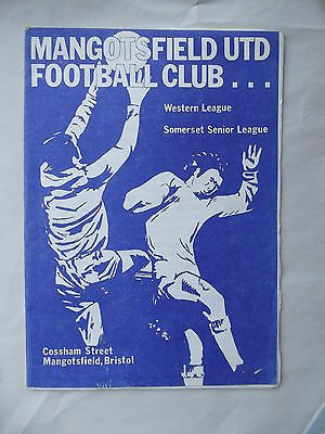 Old football programme Mangotsfield United v Keynsham Town Western League 1 1