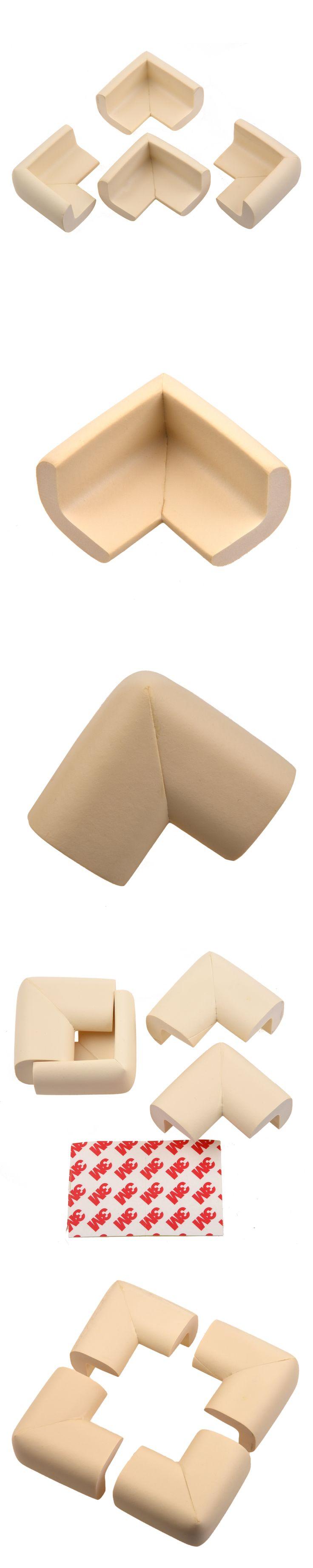 Wholesale Table Desk Shelf Edge Corner Cushion Bumper Baby Safety Guard Protector Beige