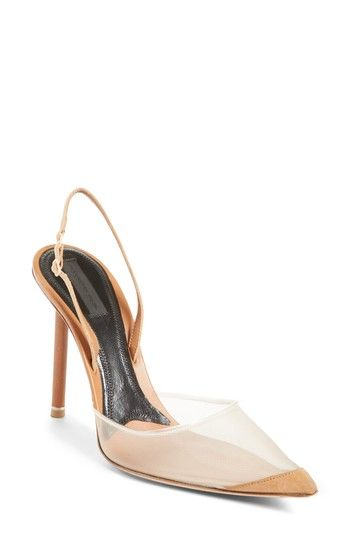 46db04085d ALEXANDER WANG ALIX MESH SLINGBACK PUMP. #alexanderwang #shoes ...