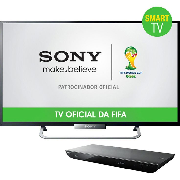 Kit #Sony (Smart TV, blu-ray player 3D e suporte de parede) - até 12% de desconto!