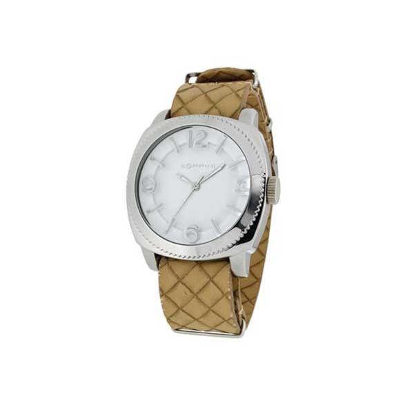 L' orologio Zoppini Time Tornado V1259_1942  ha un prezzo di listino di 59 euro Cassa: Alluminio Cinturino: Pu intreccio Beige Colore: Bianco Funzioni: Solo Tempo