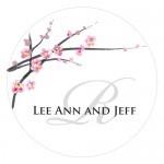 Wedding Stickers - Wedding Labels - Cherry Blossom Sticker Labels - ROUND