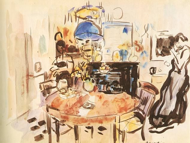 Int�rieur � Boitsfort (Interior at Boitsfort), 1912. Rik Wouters.
