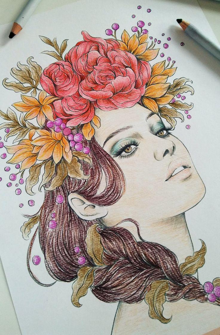 Prima Marketing Watercolor pencils and beautiful Princess from Prima Marketing colouring book