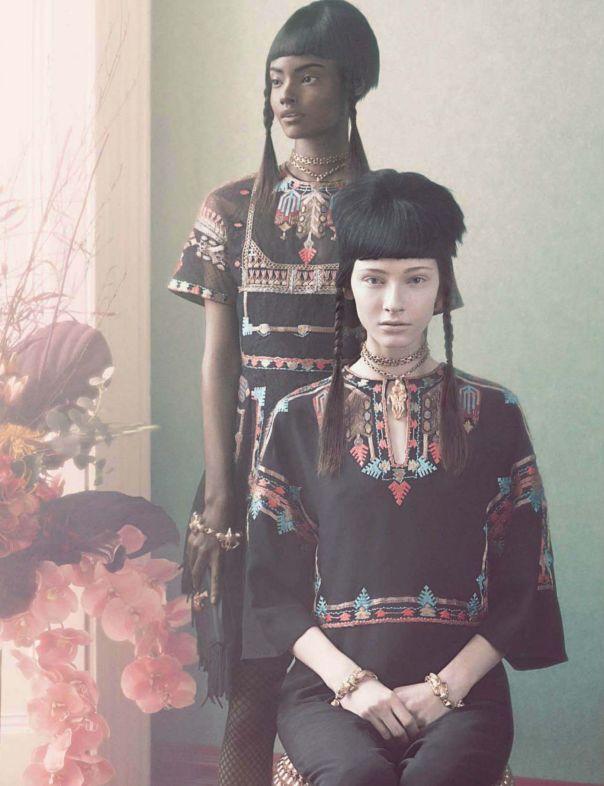 Malaika Firth, Lera Tribel by Sølve Sundsbø for Vogue Italia March 2014 1