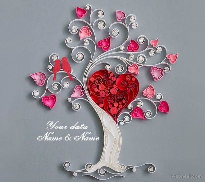 quilled trees | 25 Beautiful Quilling Flower Designs and Paper Quilling Cards