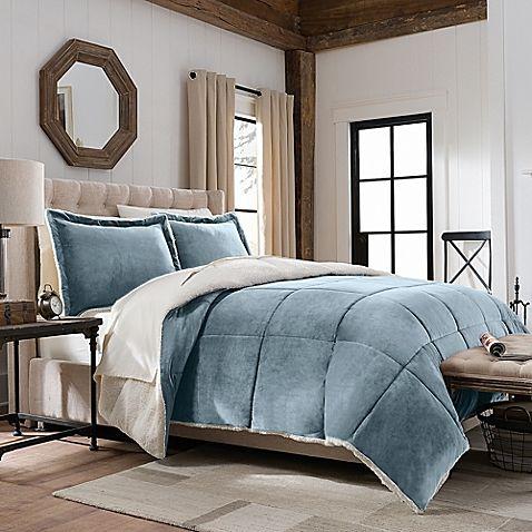 SoSoft™ Plush/Berber Down Alternative Reversible Comforter Set- king