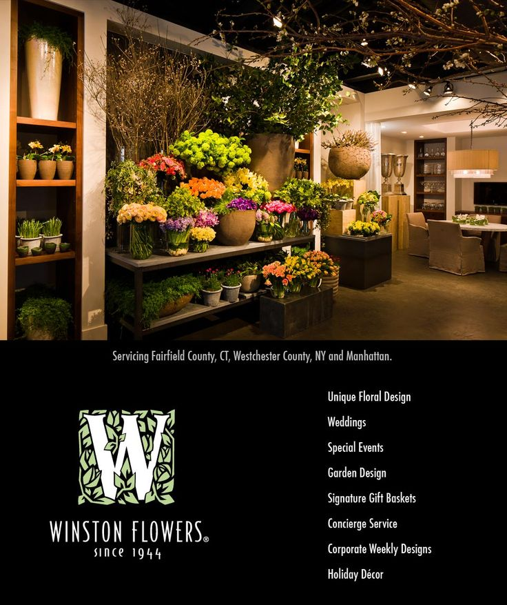 Winston Flowers is now open in Greenwich! | Winston Flowers.  New logo with date.