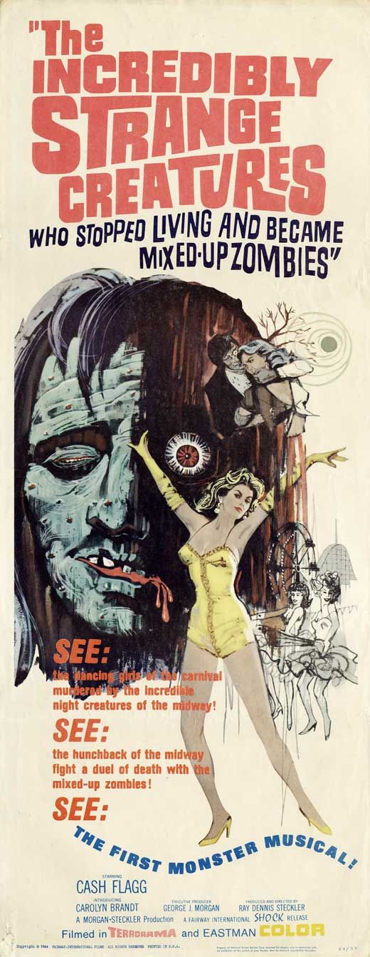 The Incredibly Strange Creatures Who Stopped Living and Became Mixed-Up Zombies!!?, Dir. Ray Dennis Steckler (1964) Insert