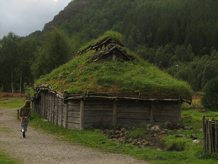 Landa (archaeological outdoor museum) at Forsand, Norway. - Viking house.  Image by Mercy from Wikimedia Commons.