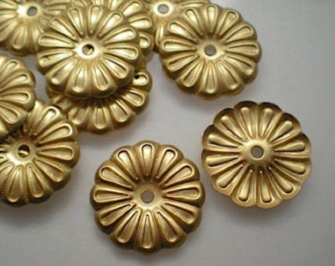 12 brass mirror rosettes No. 12   Etsy in 2020   Brass ...