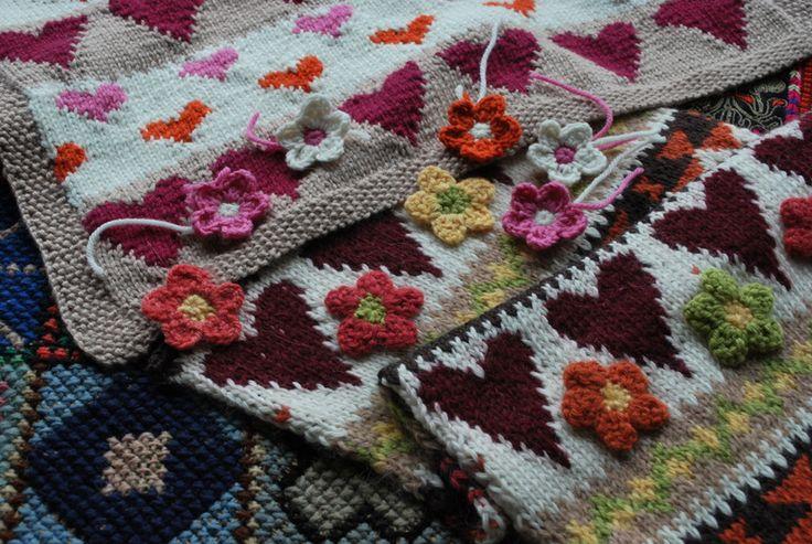 Knitting swatches from the sasha kagan studio www.sashakagan.co.uk