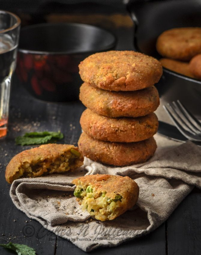 Paneer and Mixed Vegetable Cutlets/Patties