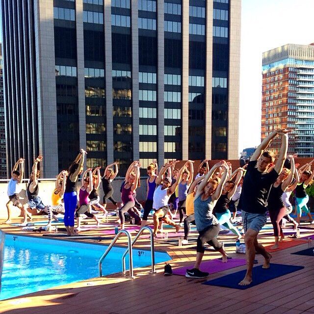 Image result for colonnade hotel rooftop yoga Rebecca Pacheco
