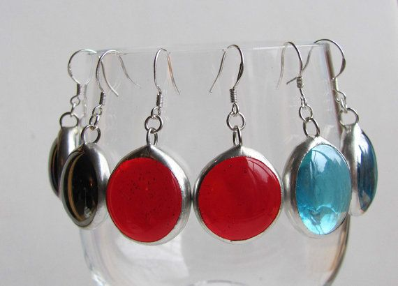 Stained Glass Earrings 3 Pairs