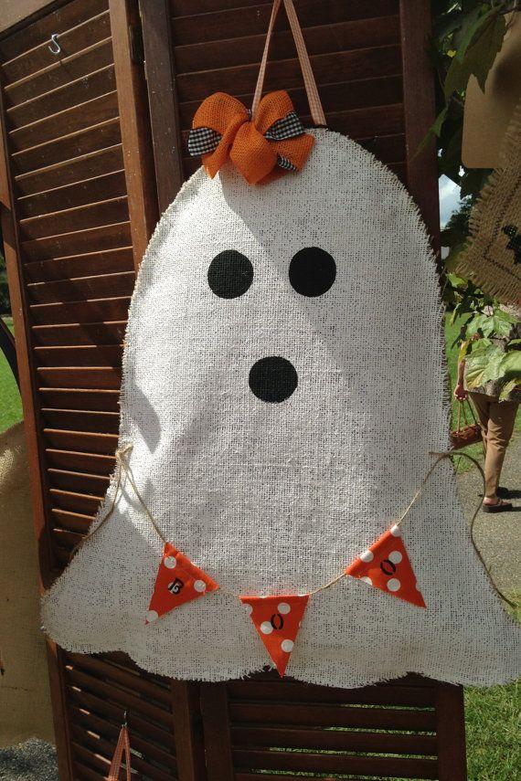 Burlap Ghost Door Hanger 4