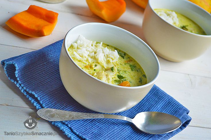 Zielone curry z dorszem, dynią i szpinakiem