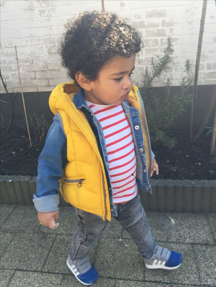 Baby Zara boys outfit, yellow hooded vest
