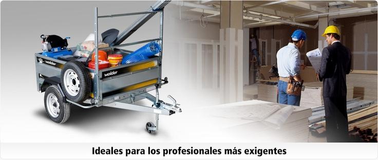 Wolder Remolques profesionales · Ideales para los profesionales más exigentes.
