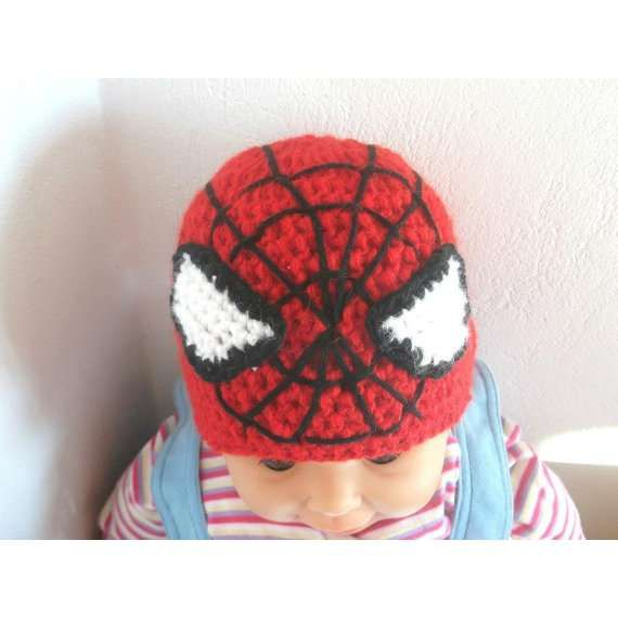Crochet Pattern Hat Spiderman All Sizes By