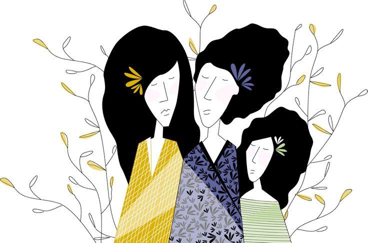 Orienta girls among flowers Chicas orientales entre las flores  #heyjuddy #illustration #crafts #art #galicia #vigo