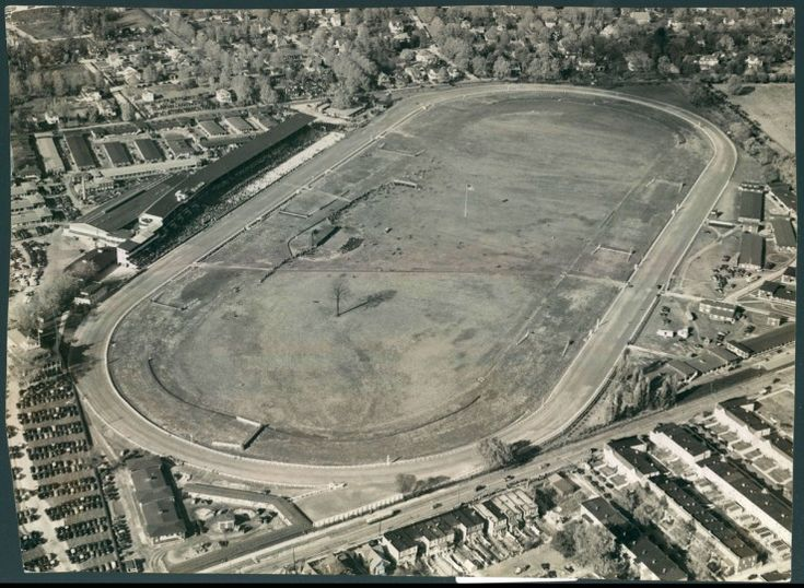 Baltimore from above: Pimlico Race Course in Baltimore's Park Heights neighborhood is photographed from the air in 1939.