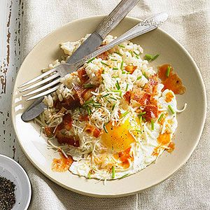 Bacon and Egg Rice Bowls