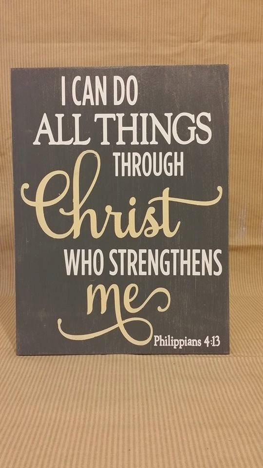 I Can Do All Things Through Christ Who by WordArtTreasures on Etsy ($17.99)