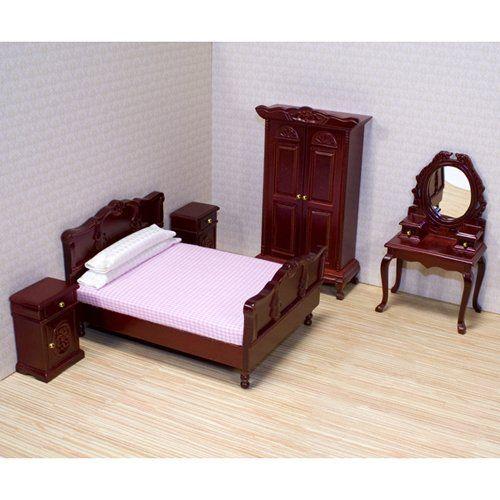 Melissa and Doug Victorian Bedroom Furniture Set - 1 in. Scale | www.dollhousesgalore.com  Visit us: missdollhouse.com #minifurniture